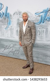 LONDON - JUN 25, 2019: Chris Robshaw attends the Serpentine Gallery Summer Party, Kensington Gardens