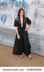 LONDON - JUN 25, 2019: Felicity Jones attends the Serpentine Gallery Summer Party, Kensington Gardens