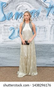 LONDON - JUN 25, 2019: Laura Whitmore attends the Serpentine Gallery Summer Party, Kensington Gardens