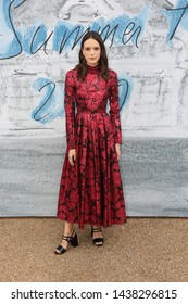 LONDON - JUN 25, 2019: Stacy Martin attends the Serpentine Gallery Summer Party, Kensington Gardens