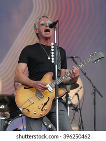 LONDON - JUN 26, 2015: Paul Weller on stage at the British Summer Time concert, Hyde Park on Jun 26, 2015 in London