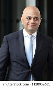 LONDON - JUN 3, 2018: Sajid Javid, Home Secretary seen at the BBC Studios in London