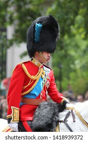 LONDON - JUN 8, 2019: Prince William during the Trooping the Colour Queen's birthday parade in central London