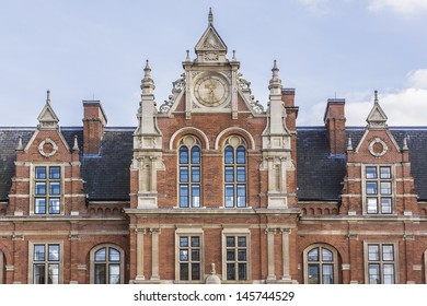 LONDON � JUNE 2: View Royal College of Music from Prince Consort Road on June 2, 2013 in London. Building was designed by Sir Arthur Blomfield and opened in May 1894.