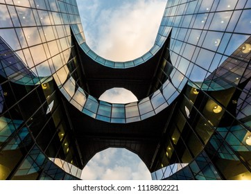 London. June 2018. A view of the Price waterhouse coopers building known as the ''Batman 'building in the city of London