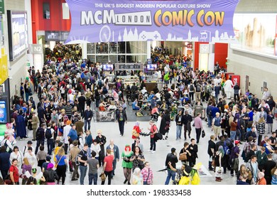 LONDON - June 25th: General view of atmosphere during Comic Con 2014 at Londons Excel  Center on June 25, 2013 in London.