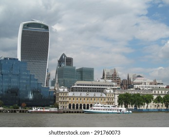 LONDON- JUNE 29: The city of londons ever changing skyline, taken from the south bank of the river thames. LONDON, JUNE 29, 2015.