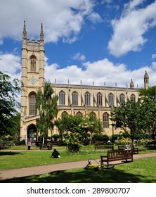 LONDON - JUNE 6, 2015. The Parish Church of St Luke is an Anglican church designed in Gothic Revival style by James Savage in 1819, now grade one listed, located at Sydney Street, Chelsea, London.