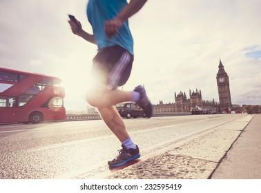 London man running Big Ben
