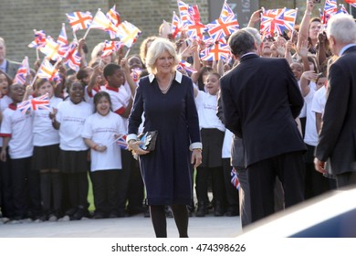 LONDON - MAR 15, 2012 : Camila Duchess Of Cornwall visit  The Prince's Foundation For Children And The Arts'at Dulwich Picture Gallery on Mar 15, 2012 in London