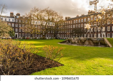 LONDON - MAR 2018: New Square, Lincoln's Inn, Temple