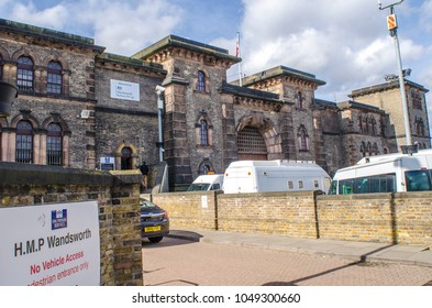 LONDON- MARCH, 2018: Exterior of Her Majesty's Prison Wandsworth, a Category B mens prison in south west London