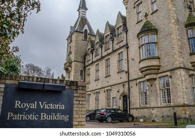 LONDON- MARCH, 2018: The Royal Victoria Patriotic Building in Wandsworth, south west London. A grade 2 listed gothic building, originally an orphanage now a multi use building