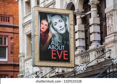 LONDON- MARCH, 2019: All About Eve theatre production at the Noel Coward theatre in London's West End