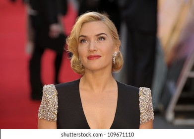 LONDON -MARCH 27: Kate Winslet attends the world premiere of 'Titanic 3D' at the Royal Albert Hall on March 27, 2012 in London.