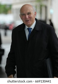 LONDON - MAY 07, 2017: Sir Vince Cable Liberal Democrat MP seen at the BBC studios in London