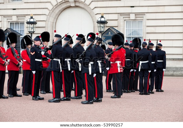 London May 07 Changing Guard Buckingham Stock Photo (Edit