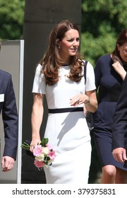 LONDON - MAY 10, 2014: Catherine, Duchess of Cambridge visit to the National Maritime Museum on May 10, 2015 in London