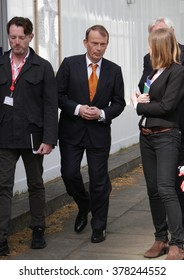 LONDON - MAY 10, 2015: Andrew Marr at The Andrew Marr Show at Westminster on May 10, 2015 in London