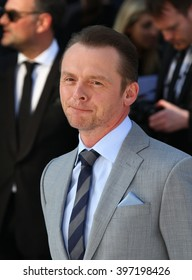 LONDON - MAY 2, 2013: Simon Pegg attends the UK Premiere of Star Trek Into Darkness at The Empire Cinema on May 2, 2013 in London