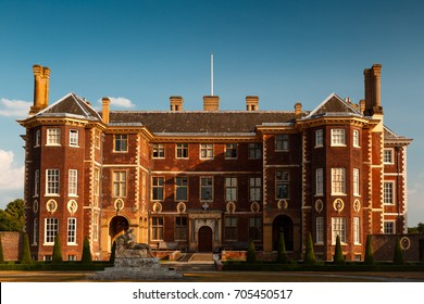 LONDON, May 2017 - Wide angle shot of the Ham House in Richmond, London, UK during late afternoon. The manor house dates from the 17th century.