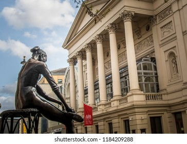 LONDON- MAY, 2018: Royal Opera House- ballet and opera venue in the Covent Garden area of London's West End