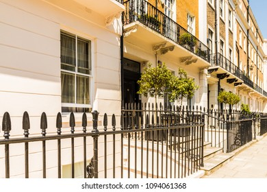 London. may 2018. A view of Belgrave Place , in Belgravia, London.