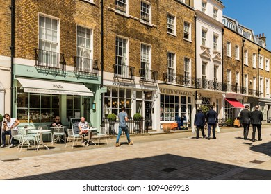 London. may 2018. A view of the cheeseboard store on Motcomb street , in Belgravia, London.