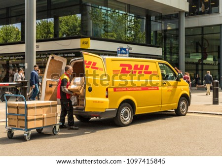 ba31e9c21f0882 London May 2018 View DHL Delivery Stock Photo (Edit Now) 1097415845 ...