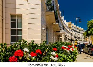 London. May, 2018.  A view of Grosvenor crescent  in Belgravia, London.