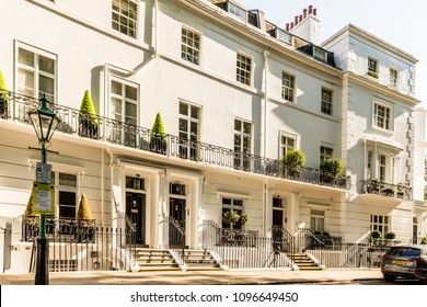 London. May 2018. A view of, one of the most  affluent streets in the uk,  Egerton Crescent, in Knightsbridge, London.