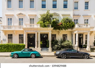 London. May 2018. A view of one of the most affluent streets in the uk, Eaton Place in Belgravia, London,