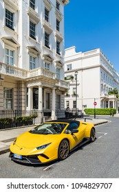 London. May 2018. A view of one of the most affluent streets in the uk, Eaton Square in Belgravia, London,