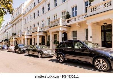 London. May 2018. A view of one of the most affluent streets in the uk, Chester Square in Belgravia, London,