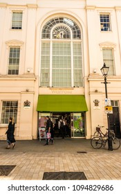 London. May 2018. A view of the waitrose store on Motcomb Street, in Belgravia, London.