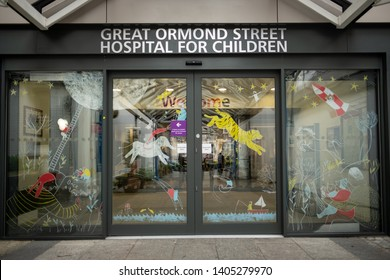LONDON- MAY, 2019: Great Ormond Street Hospital, a large childrens hospital in Bloomsbury