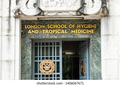 LONDON- MAY, 2019: London school of tropical medicine and hygiene, a research University in Bloomsbury, Camden