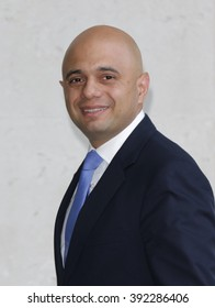 LONDON - MAY 24, 2015: Sajid Javid Conservative MP attends the Andrew Marr Show at the BBC broadcasting house building on May 24, 2015 in London