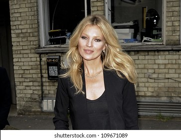 LONDON - May 24: Kate Moss attends the screening of 'Touched... Like a Virgin' at the Soho Theater, Dean Street on may 24, 2012 in London.