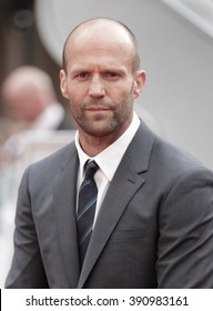 LONDON - MAY 27, 2015: Jason Statham attends The European premiere of SPY at the Odeon Cinema, Leicester Square on May 27, 2015 in London