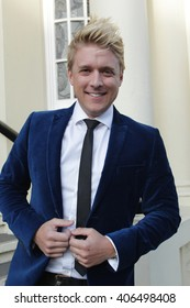 LONDON - MAY 28, 2015: Jonathan Ansell attends the Puttin On The Ritz: UK Tour - media night on May 28, 2015 in London