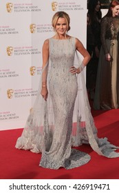 LONDON - MAY 8, 2016: Amanda Holden arrives for the House Of Fraser British Academy Television Awards at the Royal Festival Hall on May 8, 2016 in London