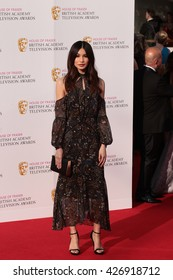 LONDON - MAY 8, 2016: Gemma Chan arrives for the House Of Fraser British Academy Television Awards at the Royal Festival Hall on May 8, 2016 in London