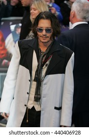 LONDON - MAY 9, 2012: Johnny Depp attends the Dark Shadows - UK film premiere at the The Empire, Leicester Square on May 9, 2012 in London
