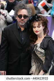 LONDON - MAY 9, 2012: Tim Burton & Helena Bonham Carter attend the Dark Shadows - UK film premiere at the The Empire, Leicester Square on May 9, 2012 in London
