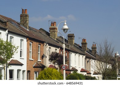 London neighborhood terraced houses