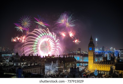 The London New year fireworks celebrations.