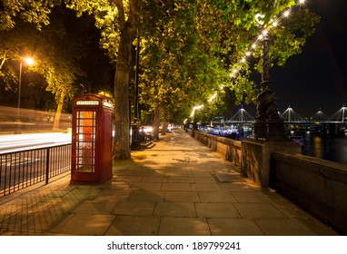london night walkway