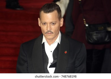 LONDON - NOV, 02, 2017: Johnny Depp attends the Murder on the Orient Express film premiere in London
