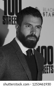 LONDON - NOV 08, 2016: ( Image digitally altered to monochrome )  Tom Cullen attends the 100 Streets film premiere at the BFI